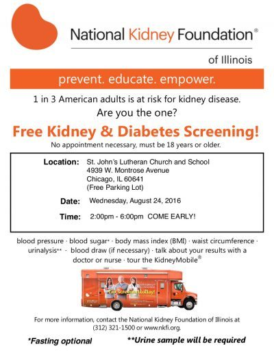 Upcoming Events Call for Volunteers for the National Kidney